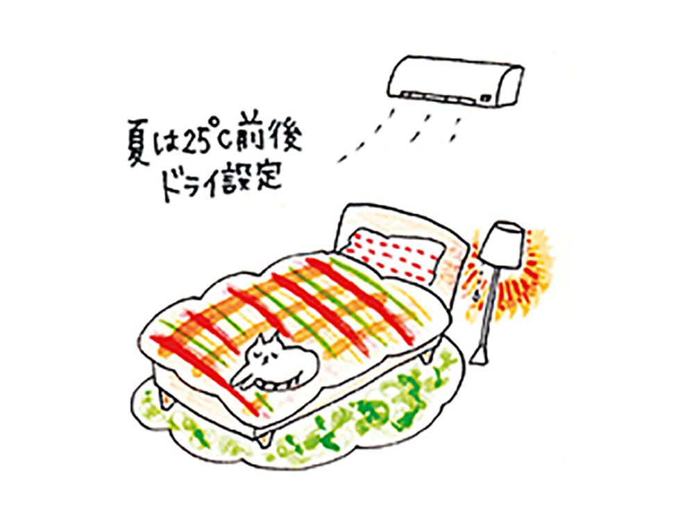 寝室の環境を整える