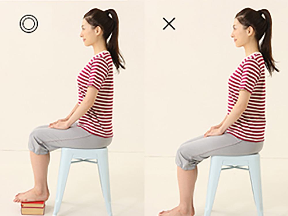 カラダのことを考えて座り方を意識する