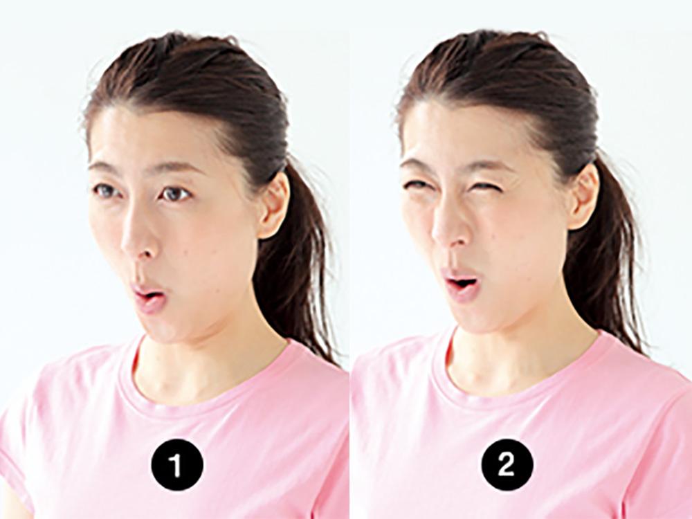 頬筋のトレーニング