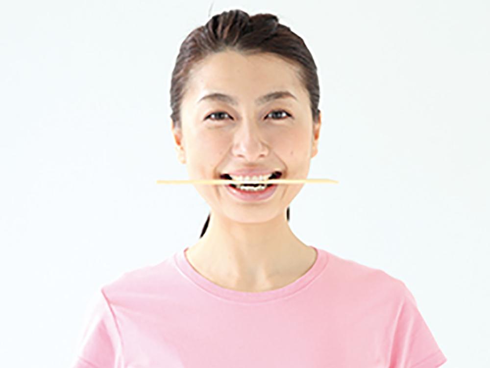 口の両脇の口角を鍛えるトレーニング