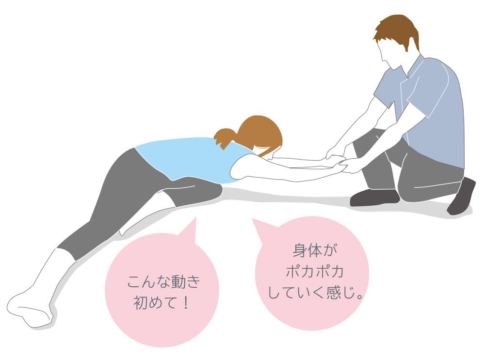 マンツーマンで柔軟性のある身体を目指しましょう