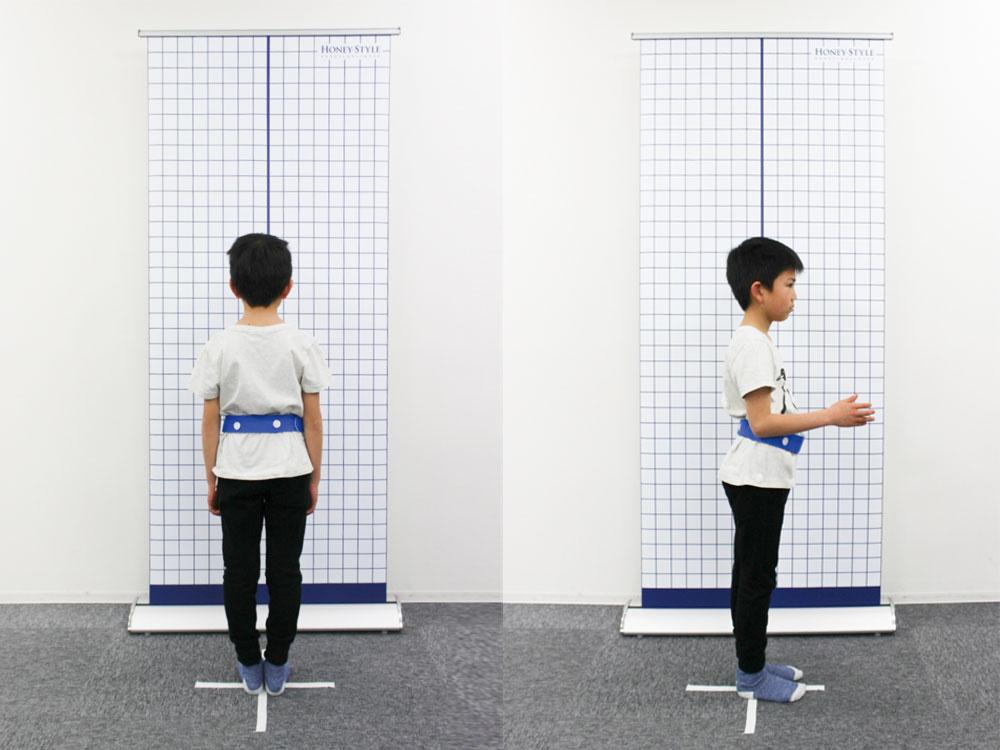 子どもの姿勢写真撮影