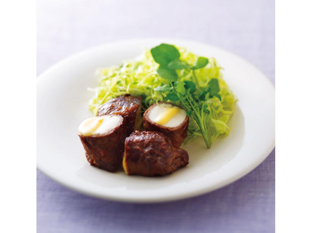 豆腐とチーズの肉巻き