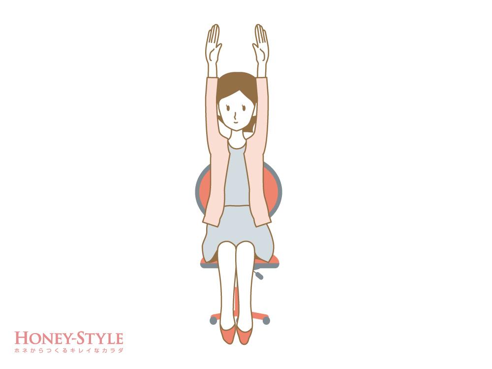 肩甲骨を寄せるストレッチ1